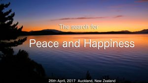 The Search For Peace & Happiness