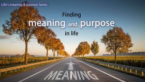 Finding Meaning & Purpose In Life