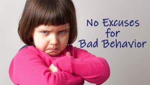 No Excuses For Bad Behavior